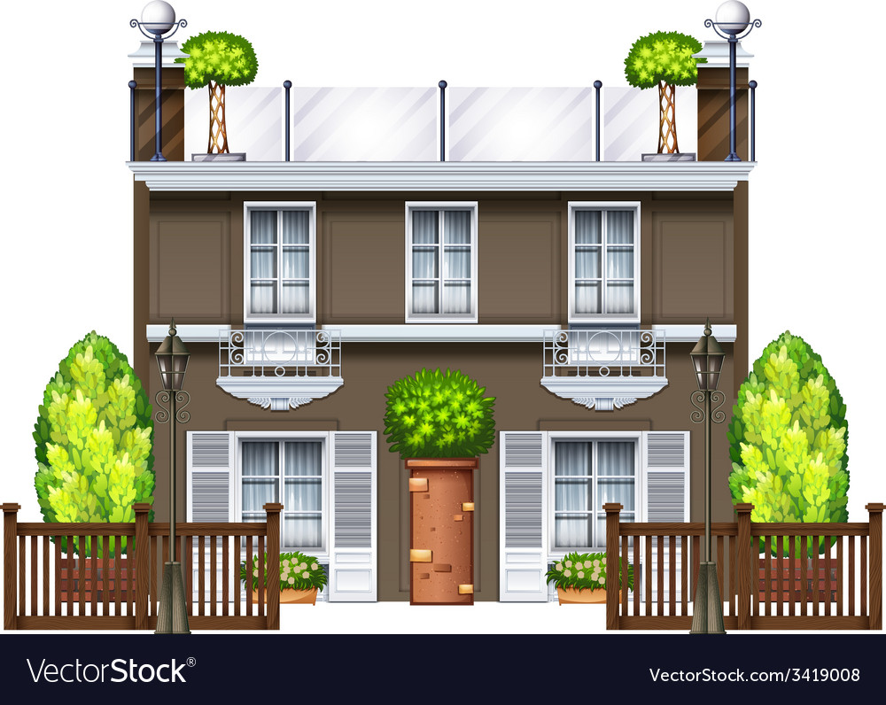 A commercial building with a nice rooftop vector   Price: 3 Credit (USD $3)