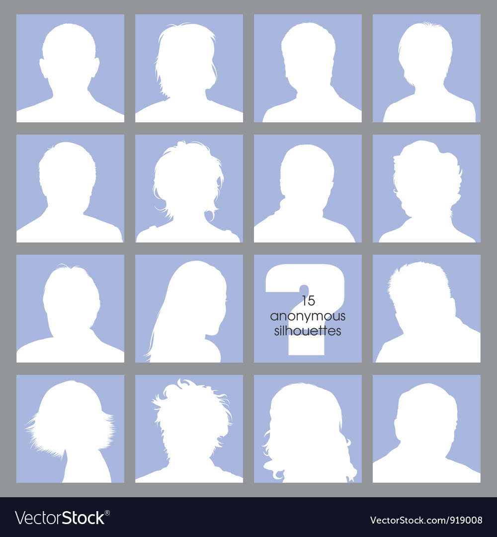 Anonymous avatars vector | Price: 1 Credit (USD $1)