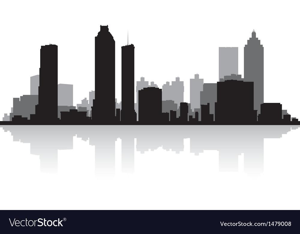Atlanta usa city skyline silhouette vector   Price: 1 Credit (USD $1)