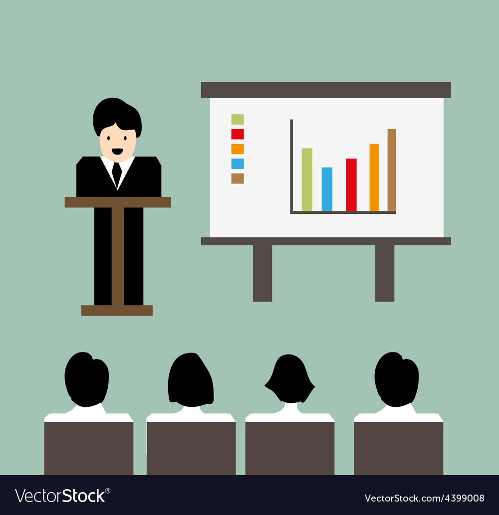 Business meeting background background vector | Price: 3 Credit (USD $3)