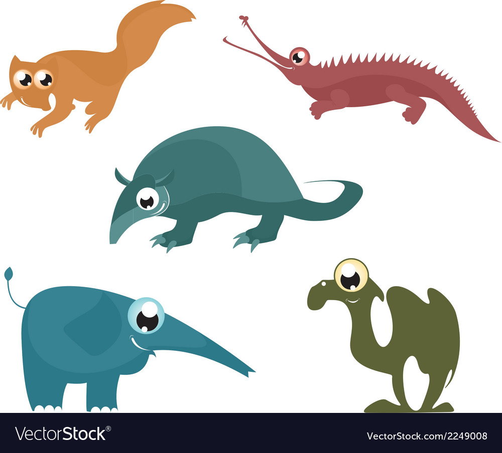 Cartoon funny animals 8 vector | Price: 1 Credit (USD $1)