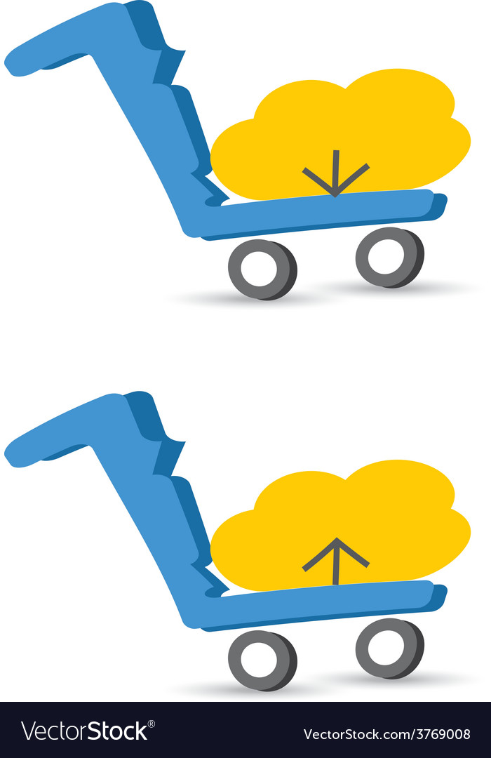 Cloud download and upload icon 24 vector | Price: 1 Credit (USD $1)