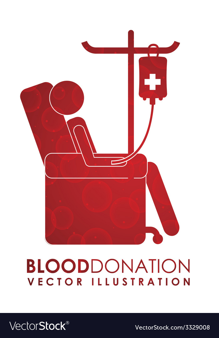 Donate blood design vector | Price: 1 Credit (USD $1)