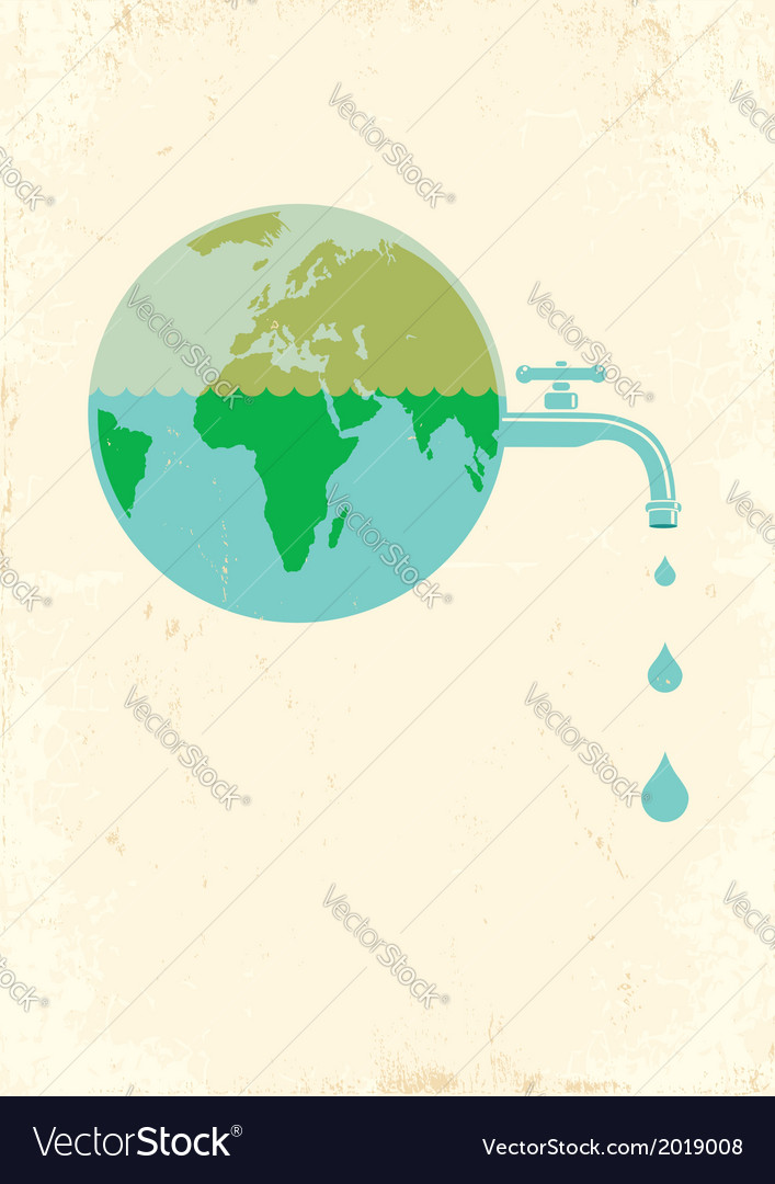 Earht water vector | Price: 1 Credit (USD $1)