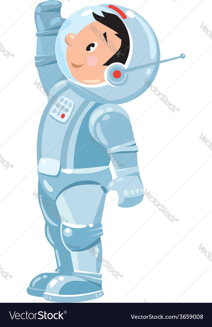 Funny boy cosmonaut or astronaut vector | Price: 1 Credit (USD $1)