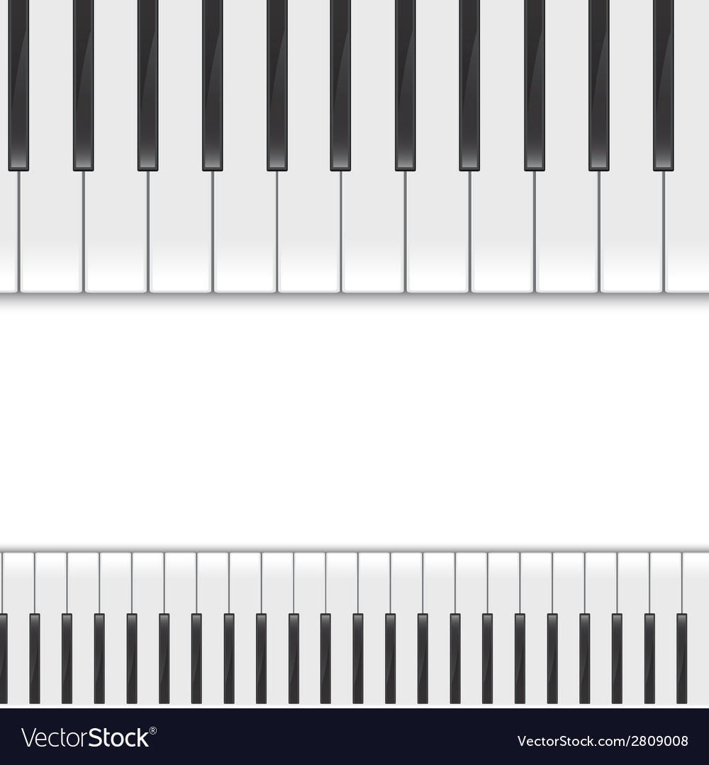 Keyboard piano2 vector | Price: 1 Credit (USD $1)