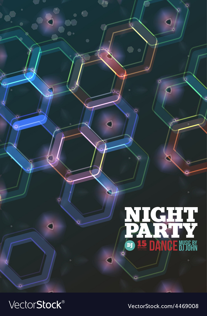 Night party vector | Price: 1 Credit (USD $1)
