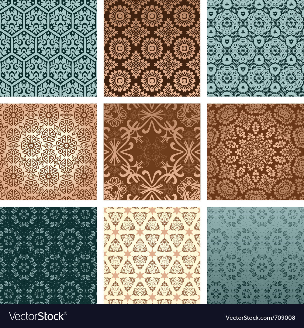 Retro wallpaper set vector | Price: 1 Credit (USD $1)