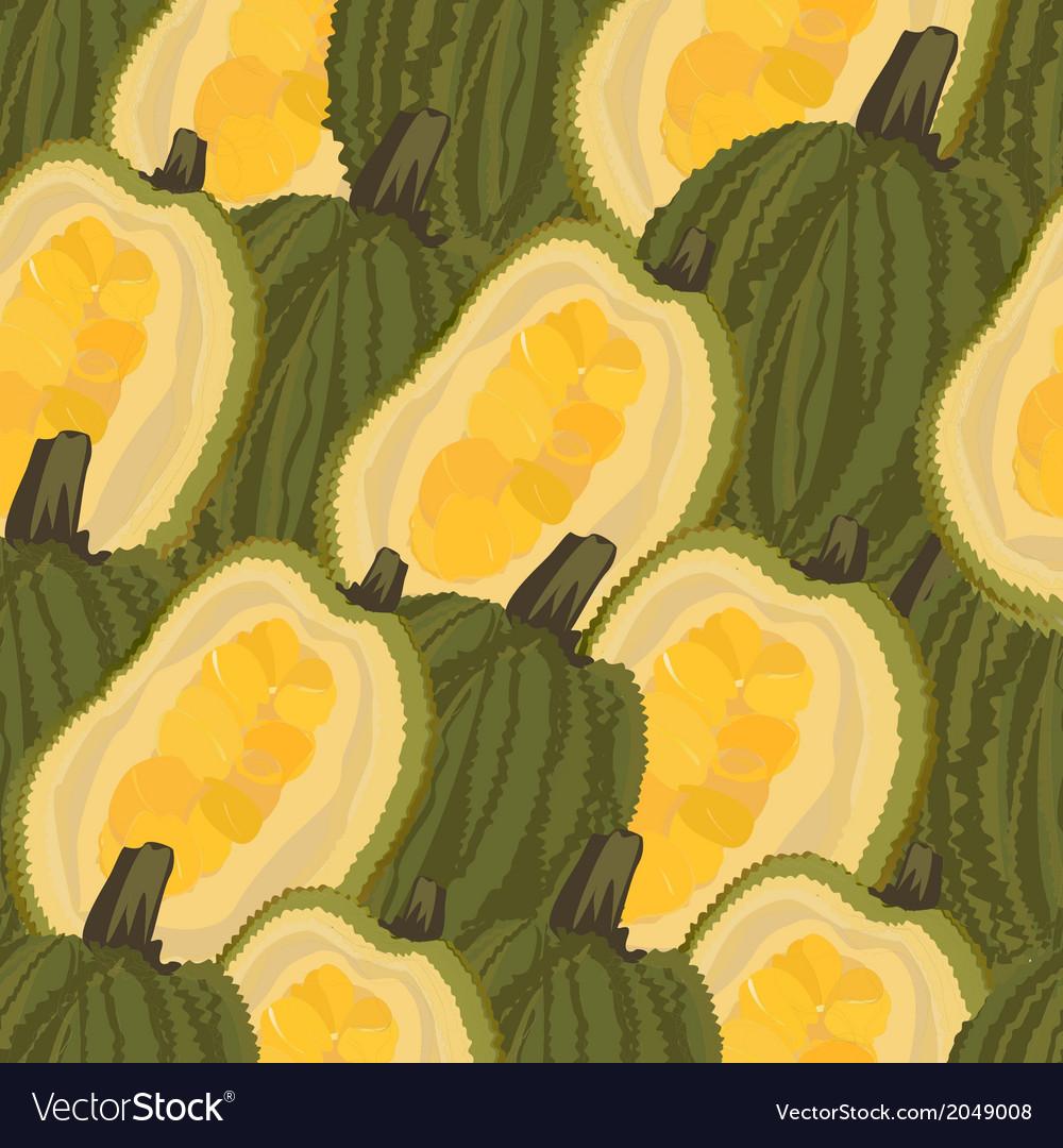 Seamless background jackfruit vector | Price: 1 Credit (USD $1)