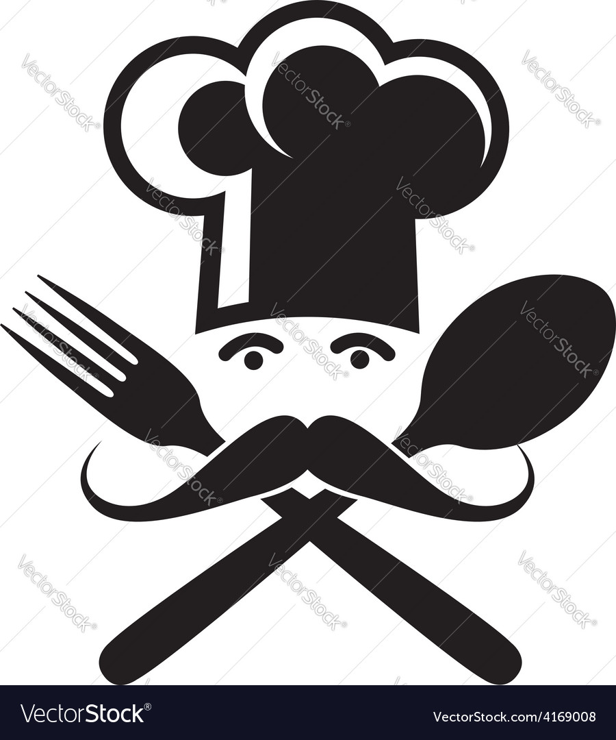 Spoon fork and chef vector | Price: 1 Credit (USD $1)