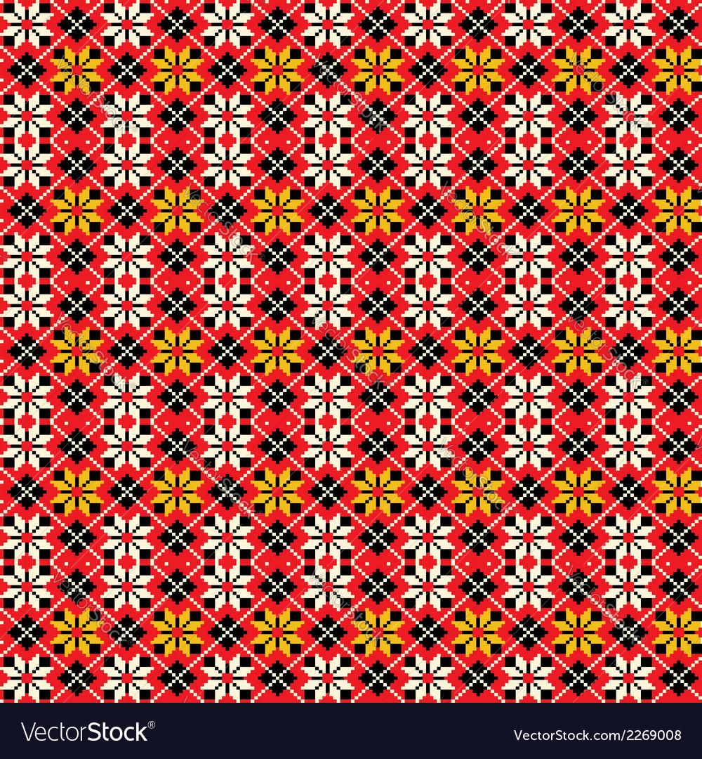 Ukrainian traditional seamless pattern vector | Price: 1 Credit (USD $1)