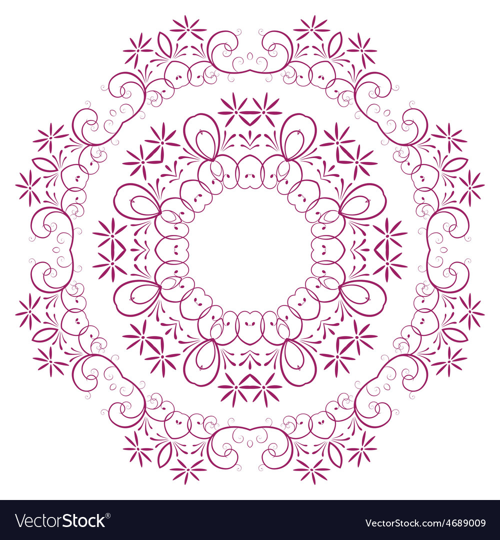 Abstract design of a circular pattern vector | Price: 1 Credit (USD $1)