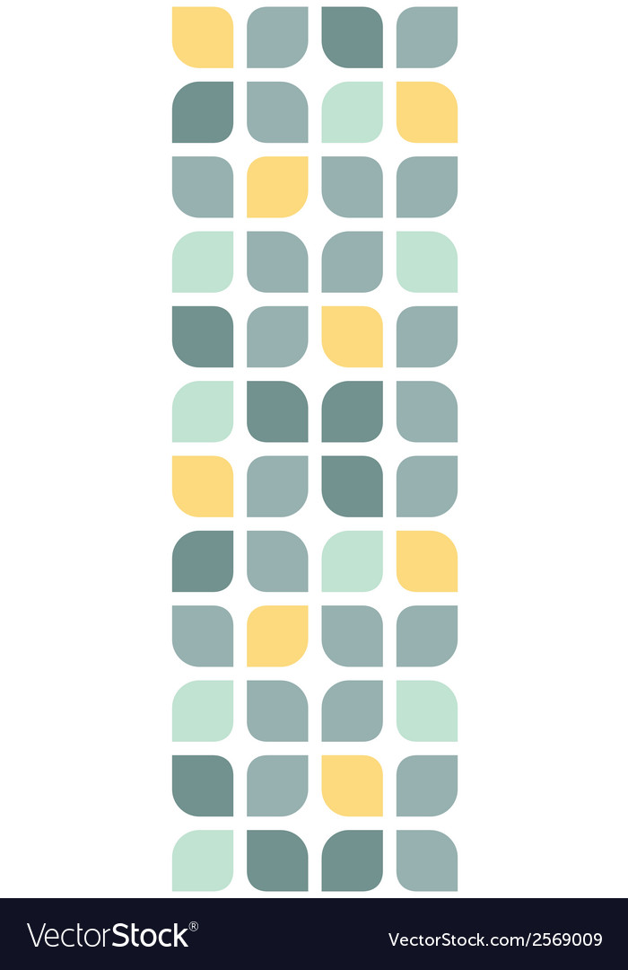 Abstract gray yellow rounded squares vertical vector | Price: 1 Credit (USD $1)