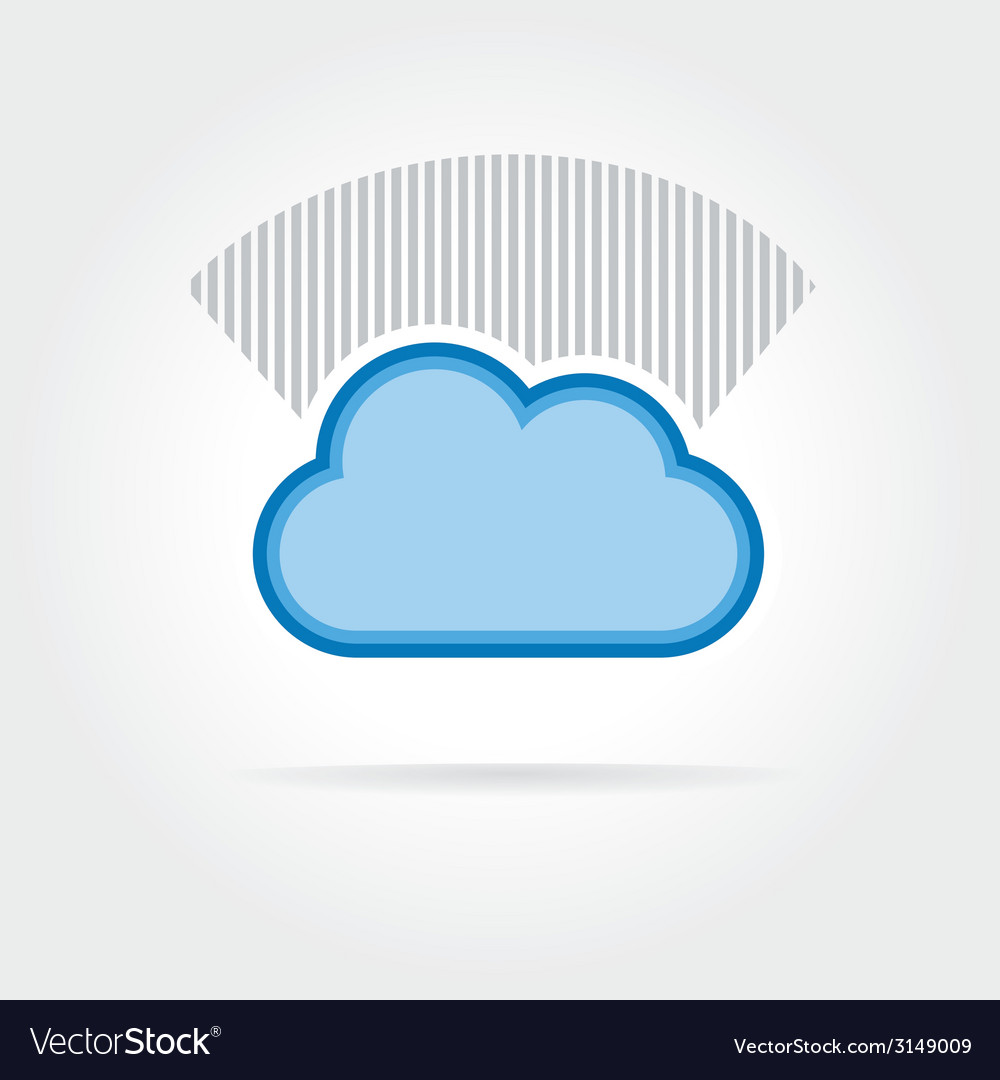 Cloud icon isolated on white background vector | Price: 1 Credit (USD $1)
