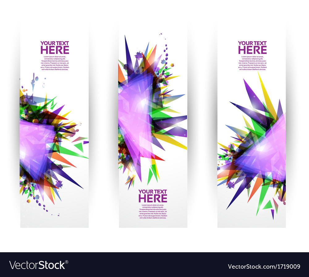 Colorful modern geometric banner set vector | Price: 1 Credit (USD $1)
