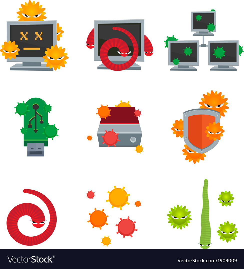 Computer viruses vector | Price: 1 Credit (USD $1)