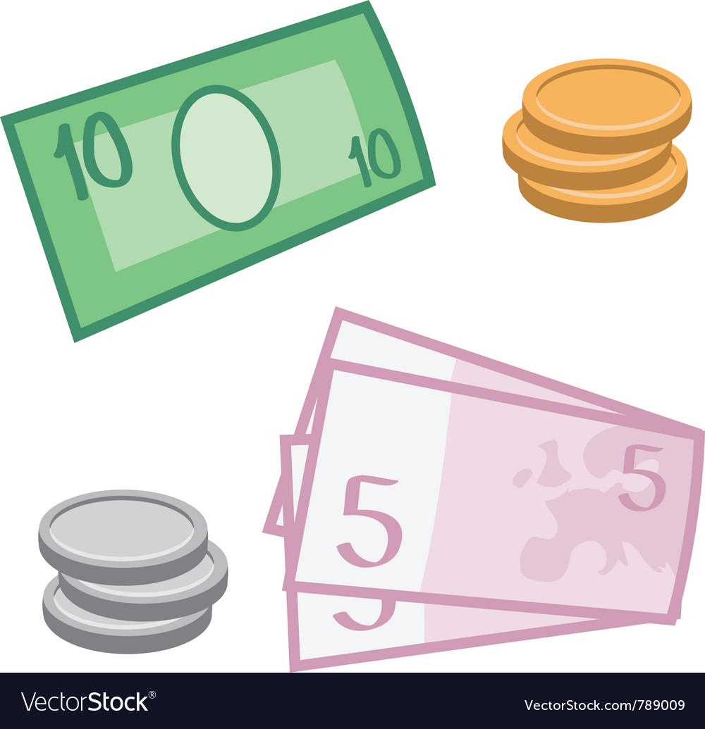 Currency and coins vector | Price: 1 Credit (USD $1)