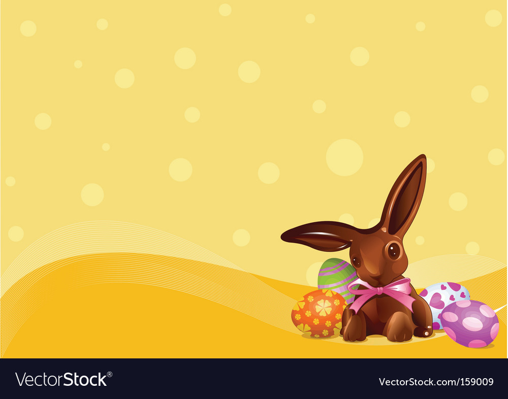 Easter chocolate bunny background vector | Price: 3 Credit (USD $3)