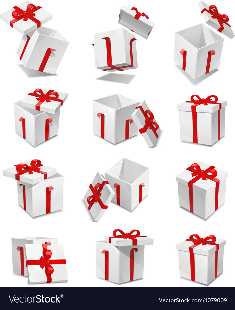 Gift box set vector | Price: 3 Credit (USD $3)