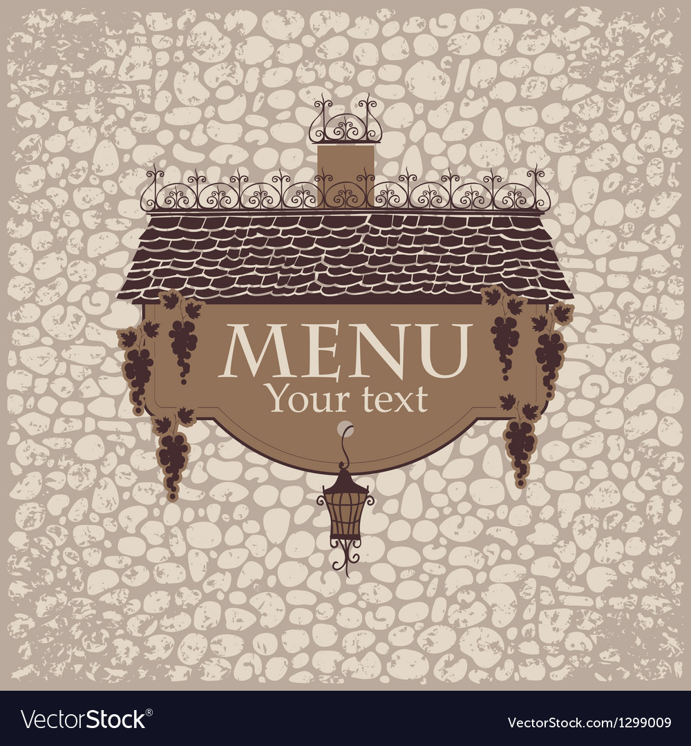 Menu with the old roof vector | Price: 1 Credit (USD $1)