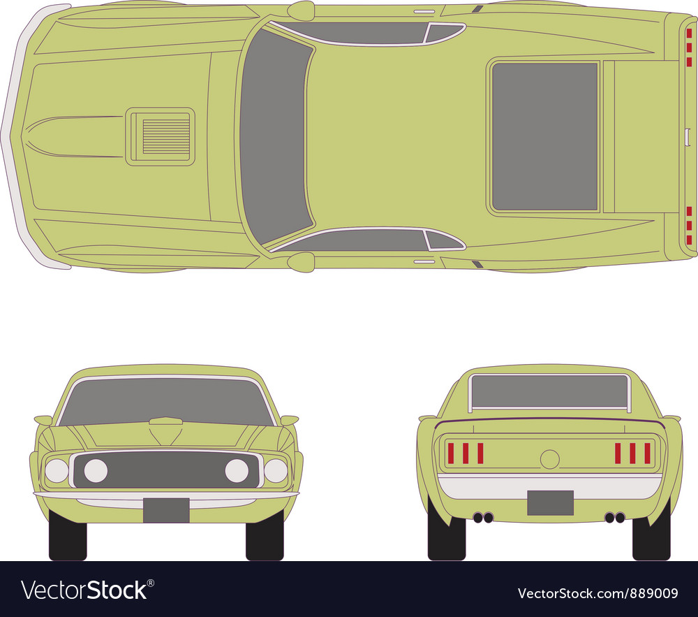 Mustang car vector | Price: 1 Credit (USD $1)