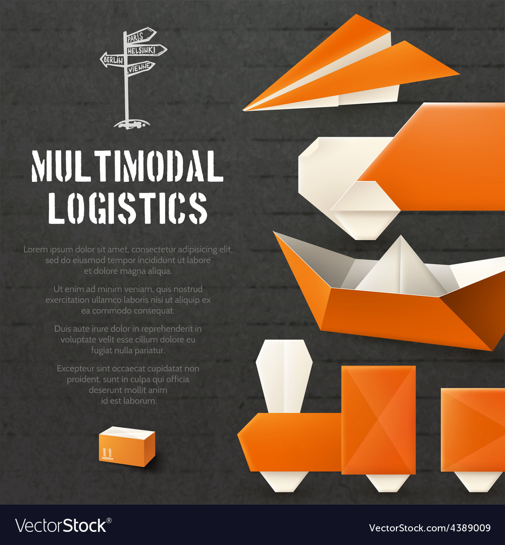 Origami logistic background vector | Price: 1 Credit (USD $1)