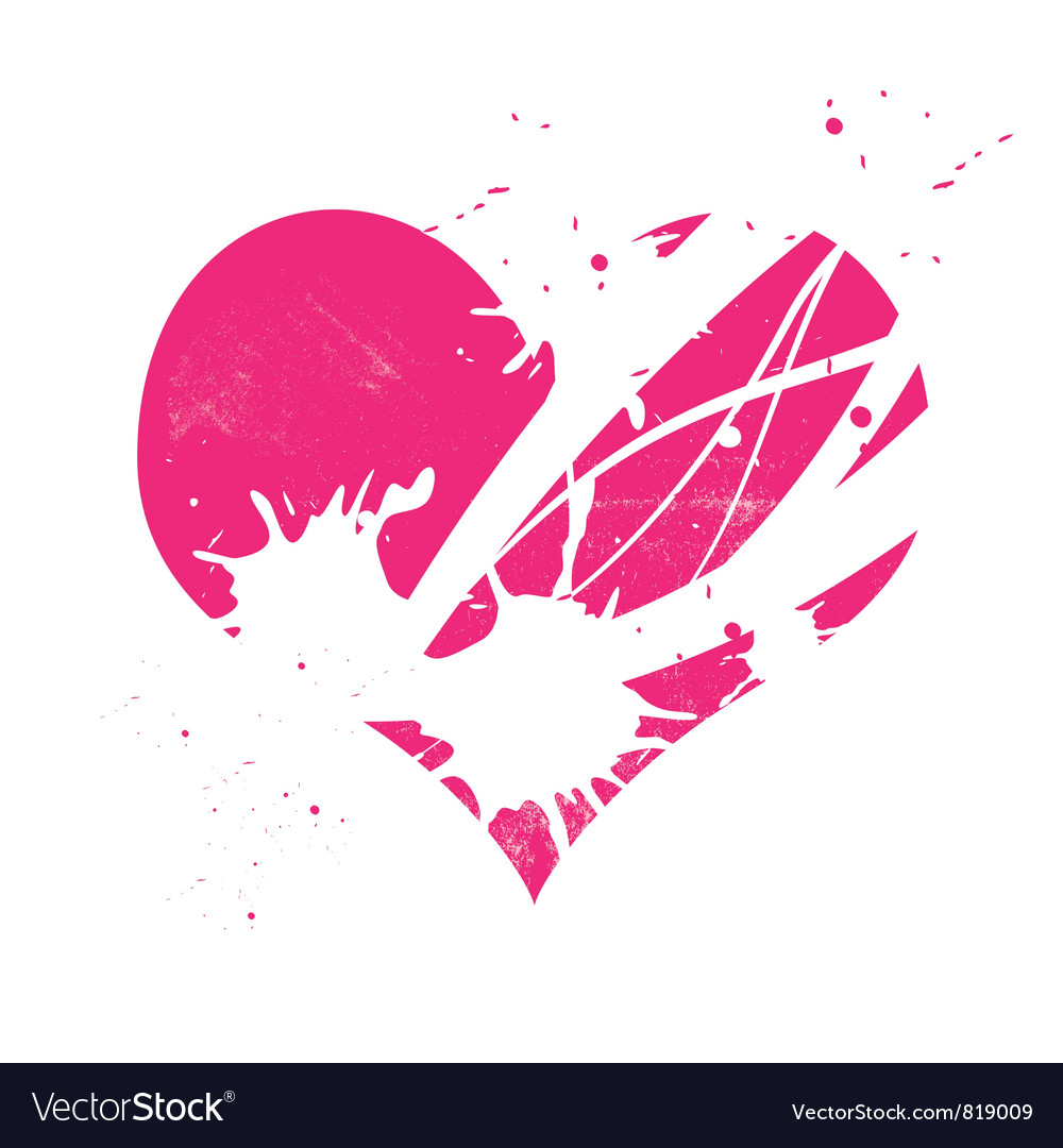 Pink grungy heart vector | Price: 1 Credit (USD $1)