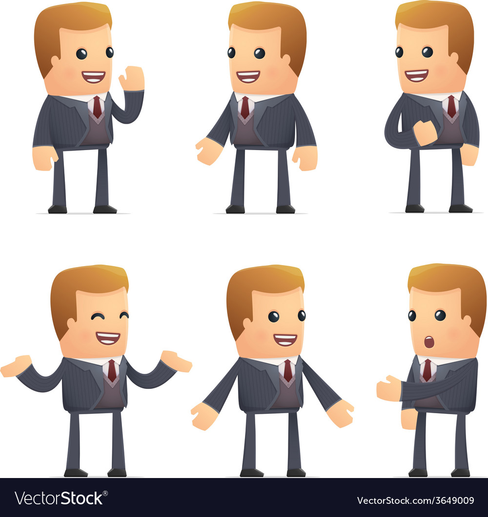 Set of advisor character in different poses vector | Price: 3 Credit (USD $3)
