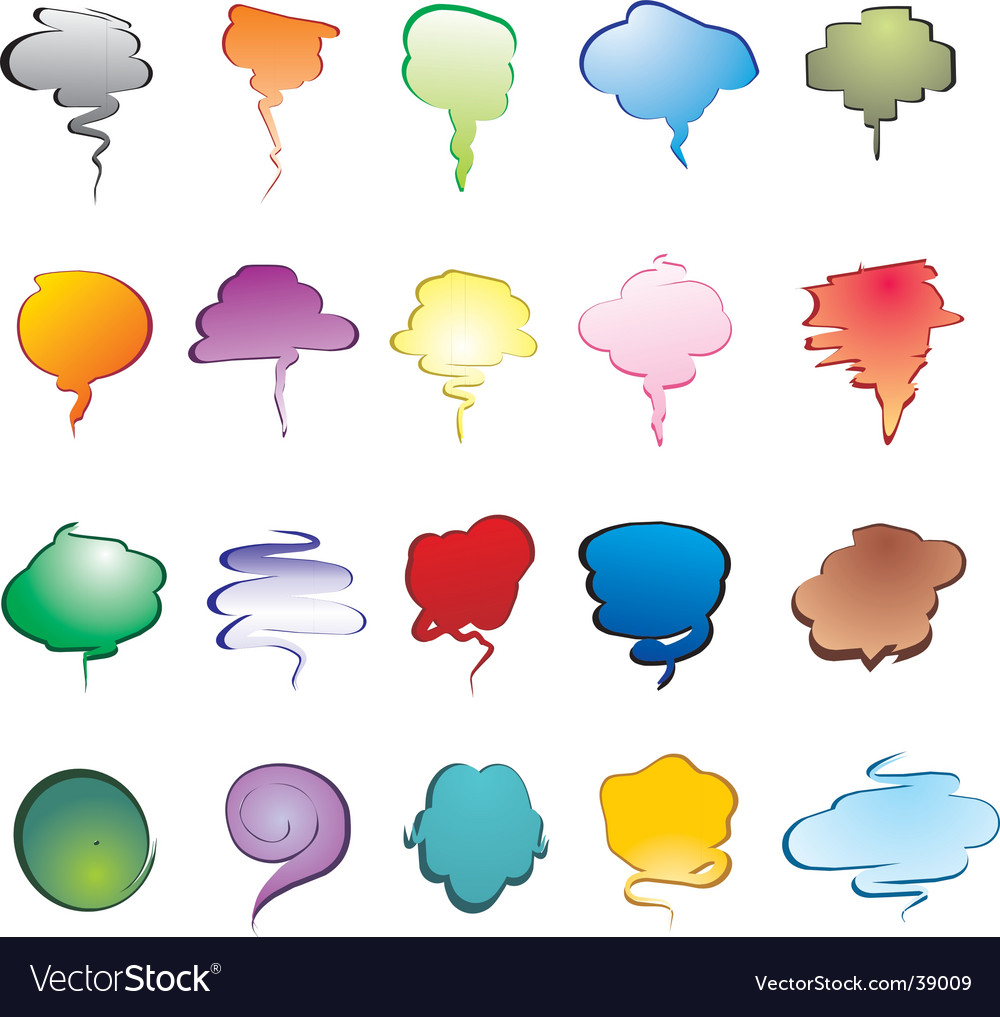Smoke speech bubbles vector | Price: 1 Credit (USD $1)