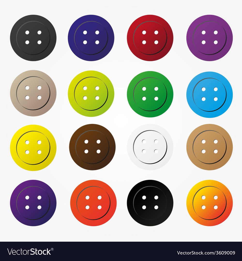 Various color buttons for clothing icons set eps10 vector | Price: 1 Credit (USD $1)