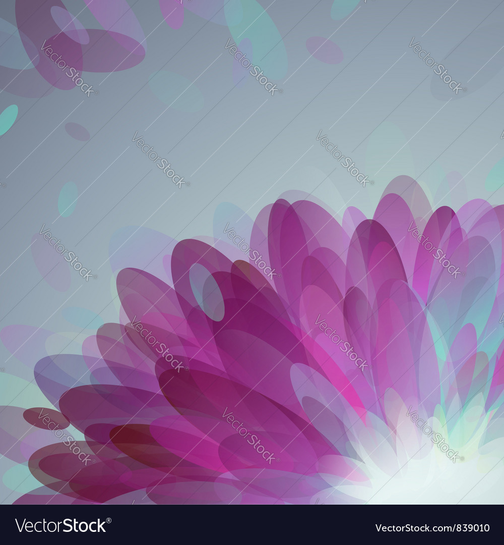 Abstract purple petals vector | Price: 1 Credit (USD $1)