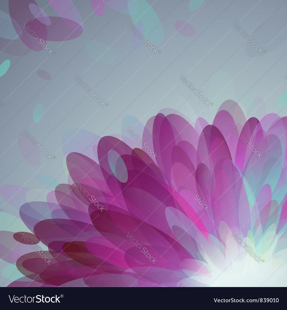 Abstract purple petals vector | Price: 1 Credit (USD $1)