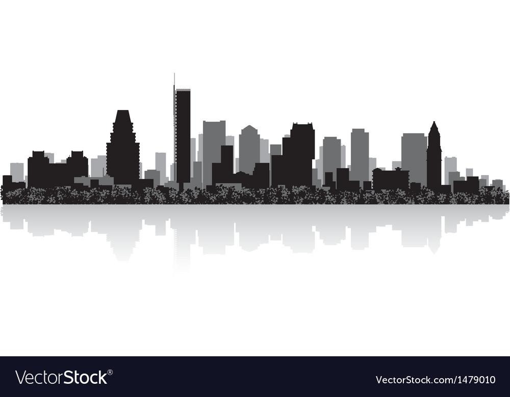 Boston usa city skyline silhouette vector   Price: 1 Credit (USD $1)