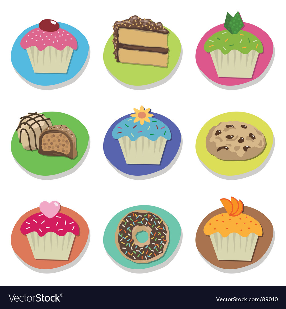 Cake icons vector | Price: 1 Credit (USD $1)