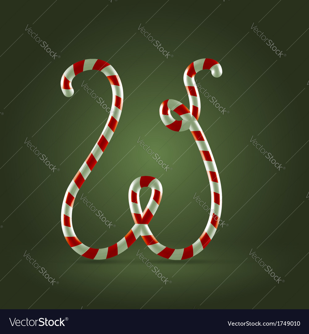 Candy cane abc w vector | Price: 1 Credit (USD $1)