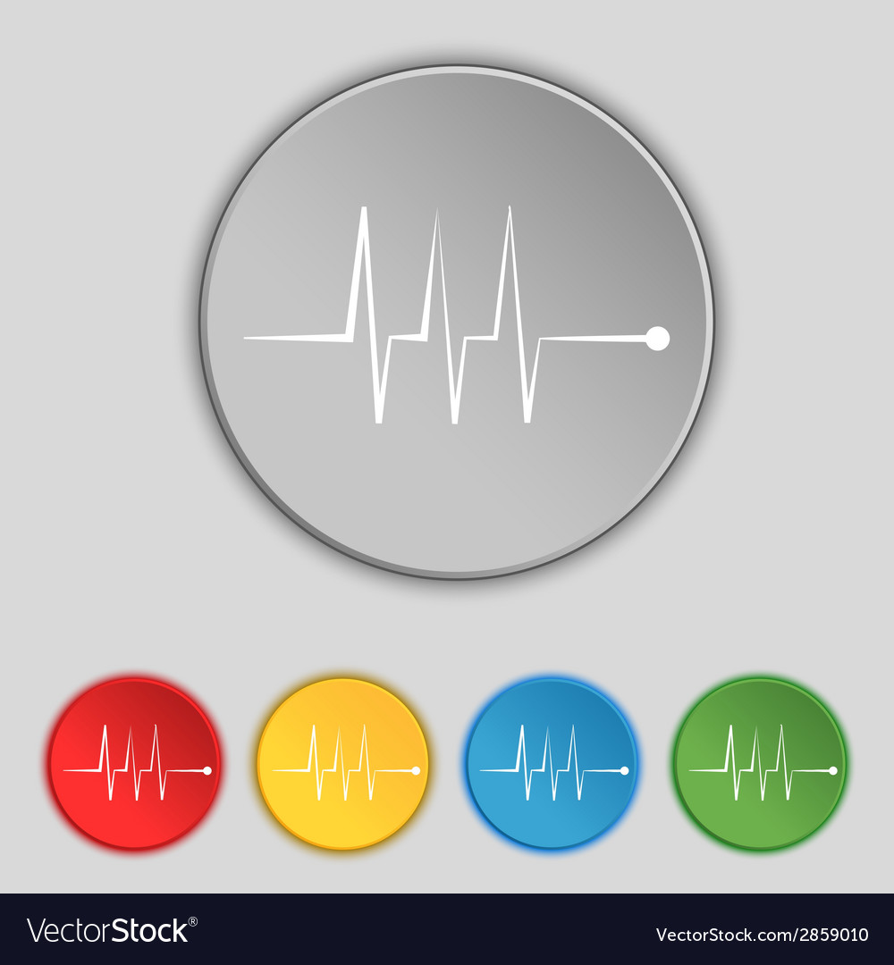 Cardiogram monitoring sign icon heart beats symbol vector | Price: 1 Credit (USD $1)