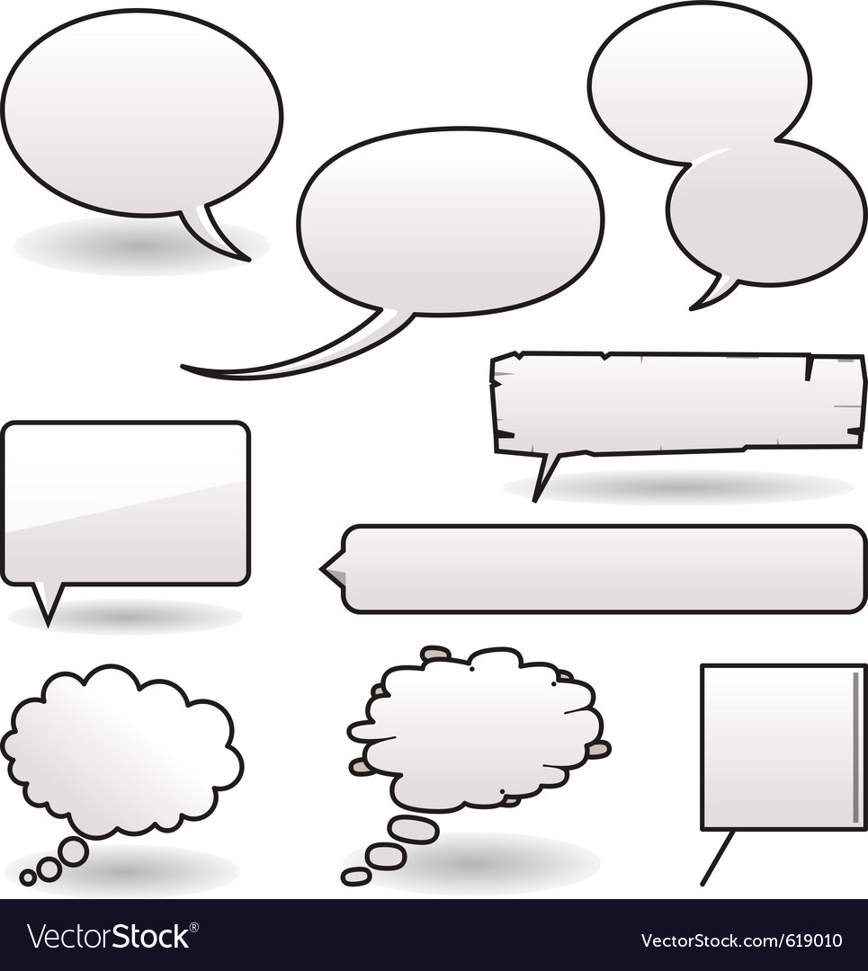 Cartoon speech balloons vector | Price: 1 Credit (USD $1)