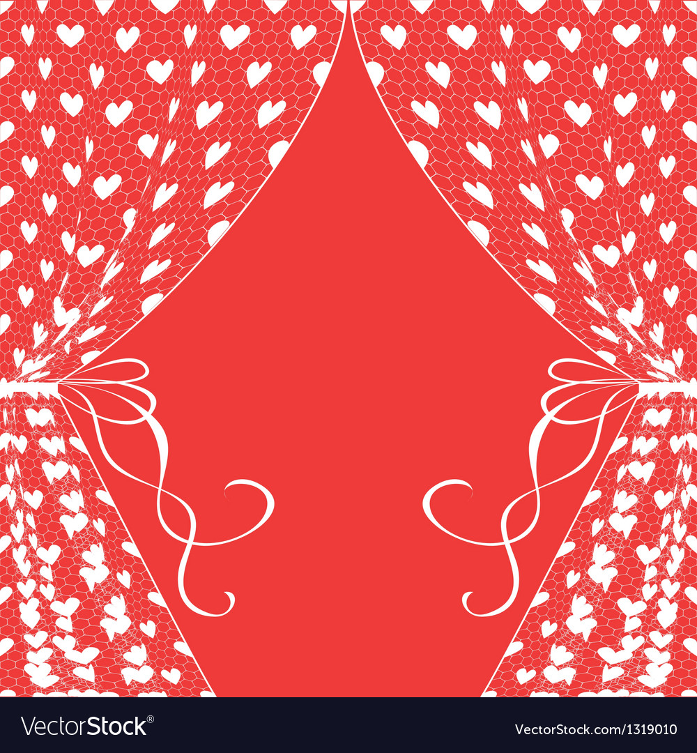 Curtains with hearts vector | Price: 1 Credit (USD $1)