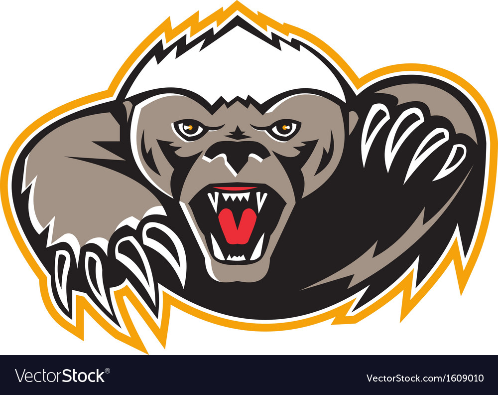 Honey badger mascot claw vector | Price: 1 Credit (USD $1)