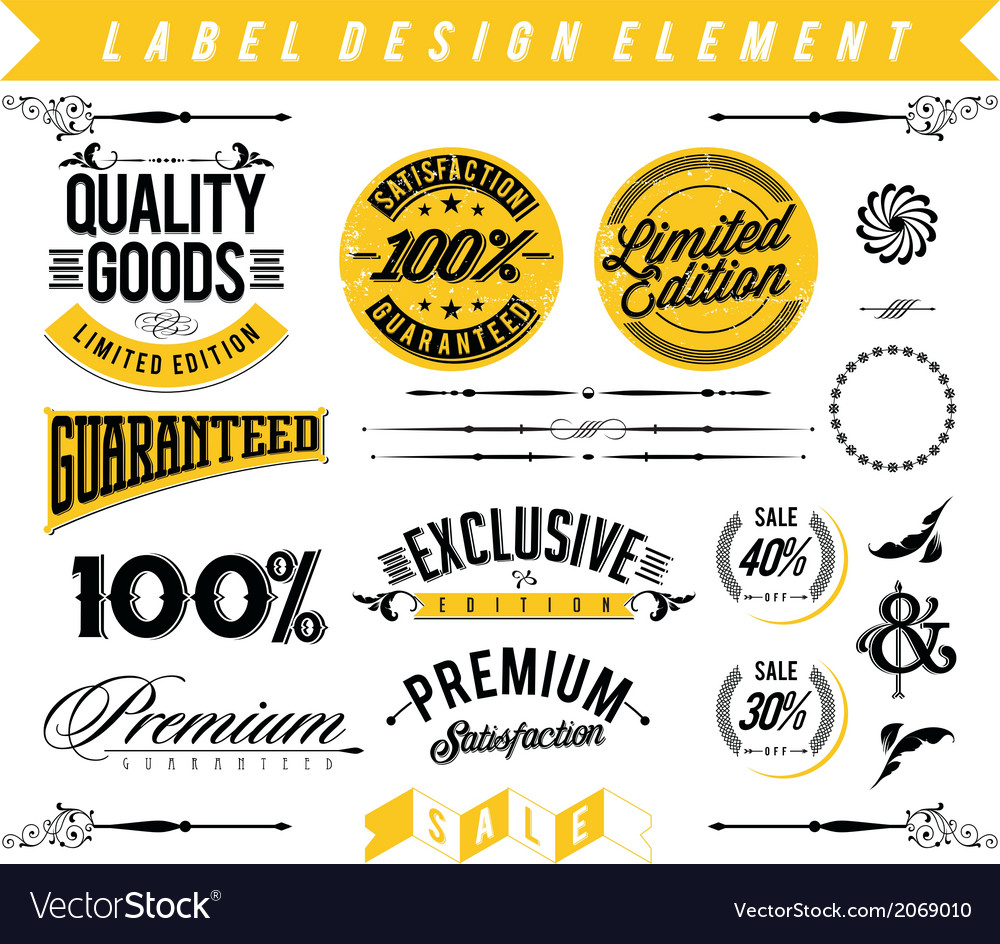 Label design element vector | Price: 1 Credit (USD $1)