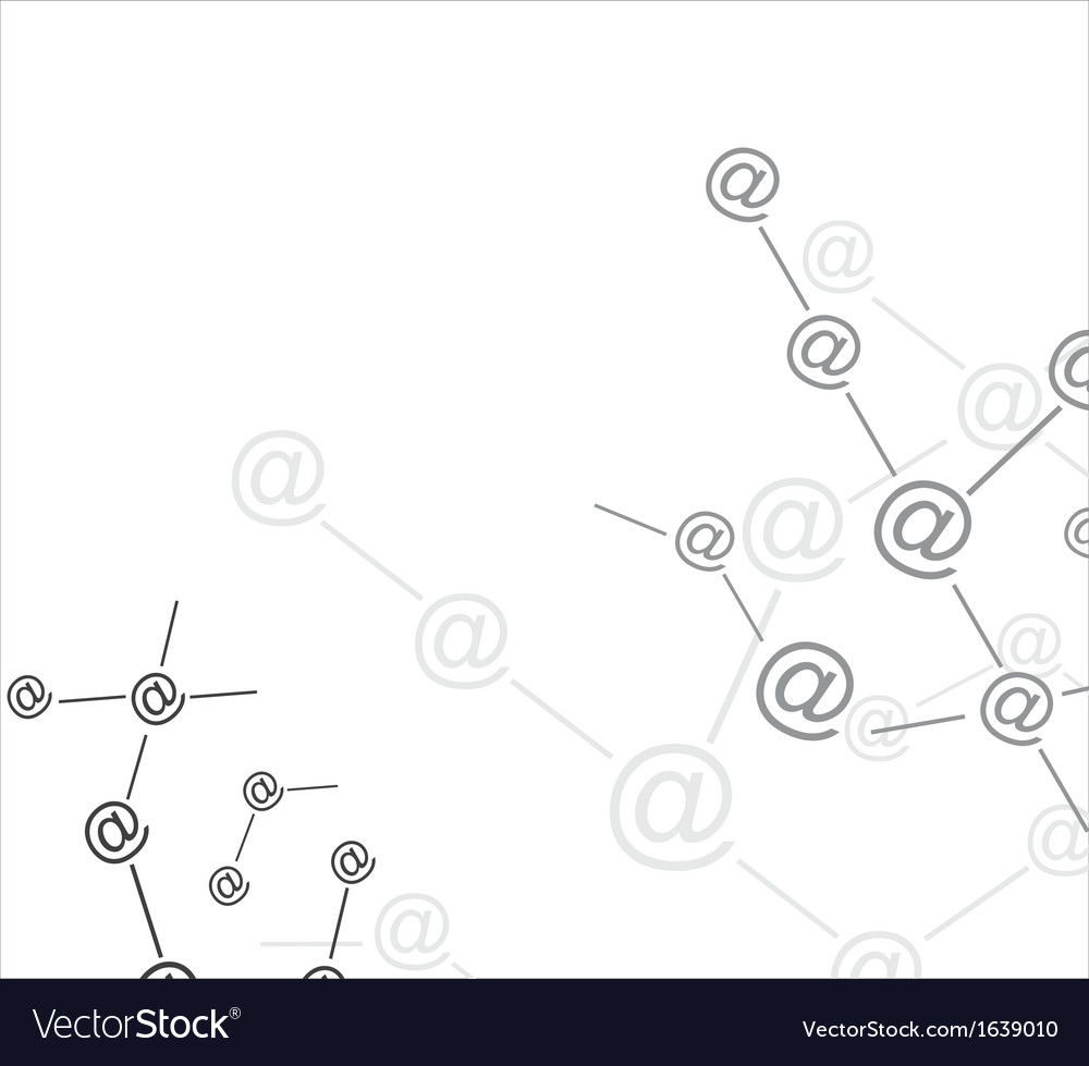 Mail connection vector | Price: 1 Credit (USD $1)