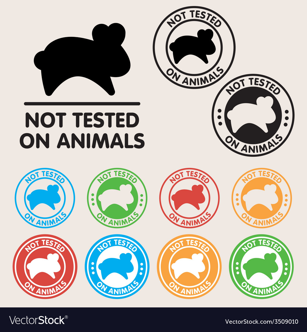 No animals testing sign icon vector | Price: 1 Credit (USD $1)