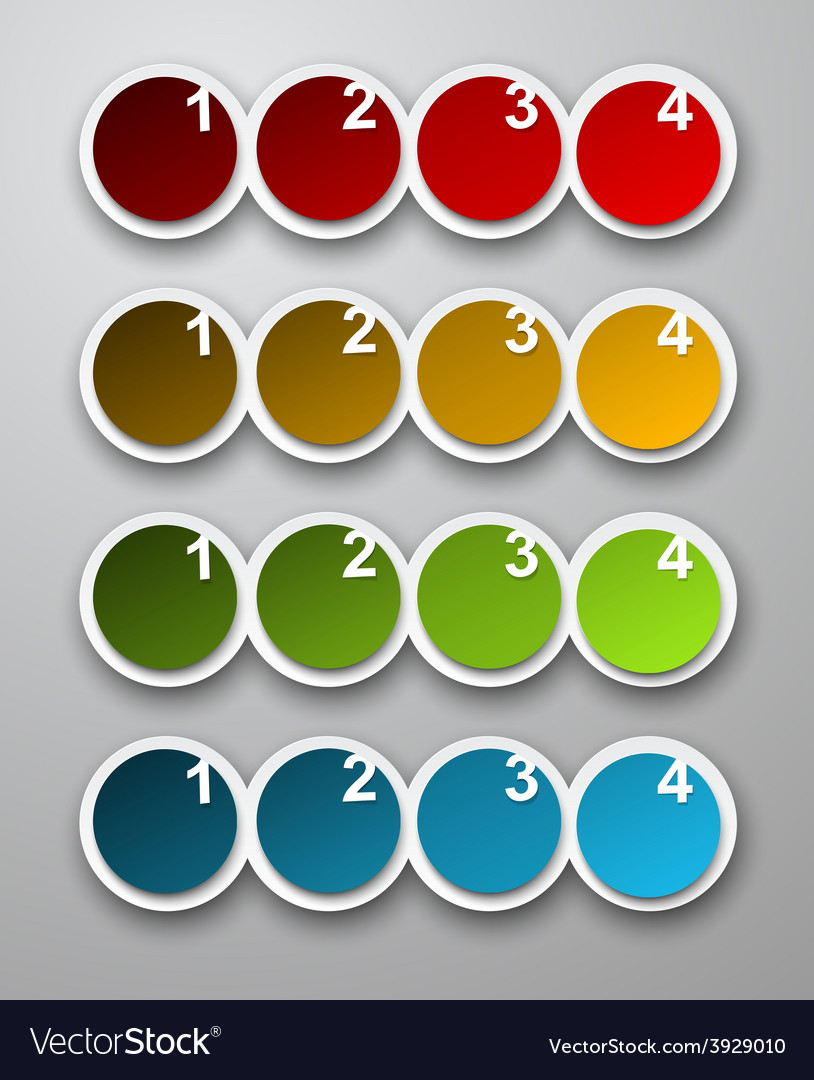 Numbered infographics list design vector | Price: 1 Credit (USD $1)
