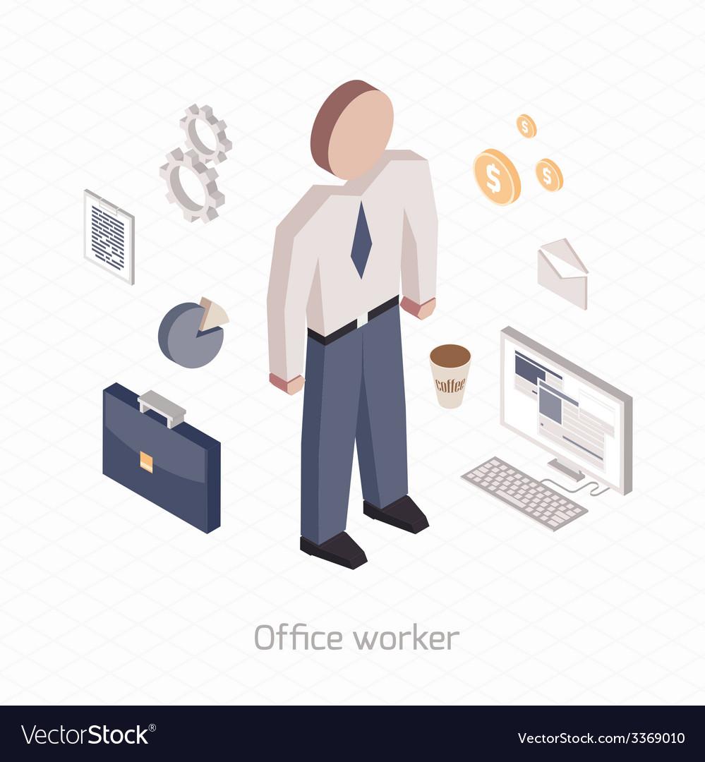 Office worker vector | Price: 1 Credit (USD $1)