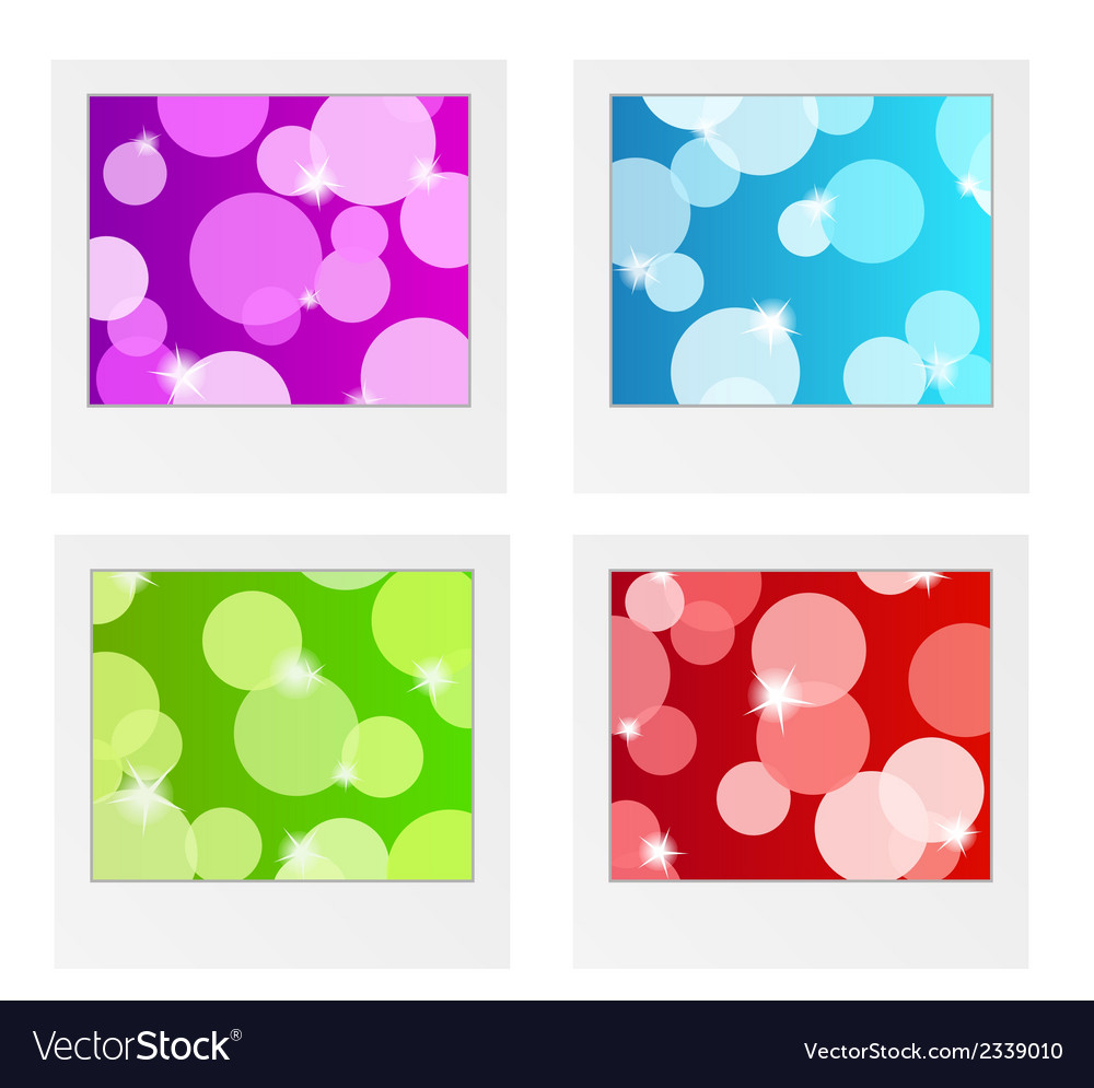 Photo frame collection with bubbles vector | Price: 1 Credit (USD $1)