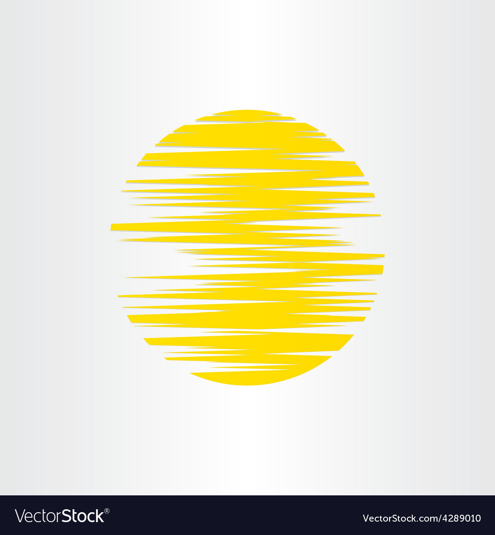 Sun stylized abstract energy icon alternative vector | Price: 1 Credit (USD $1)