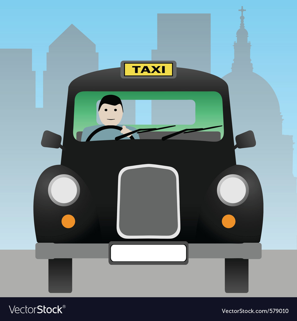 Taxi cab vector | Price: 1 Credit (USD $1)