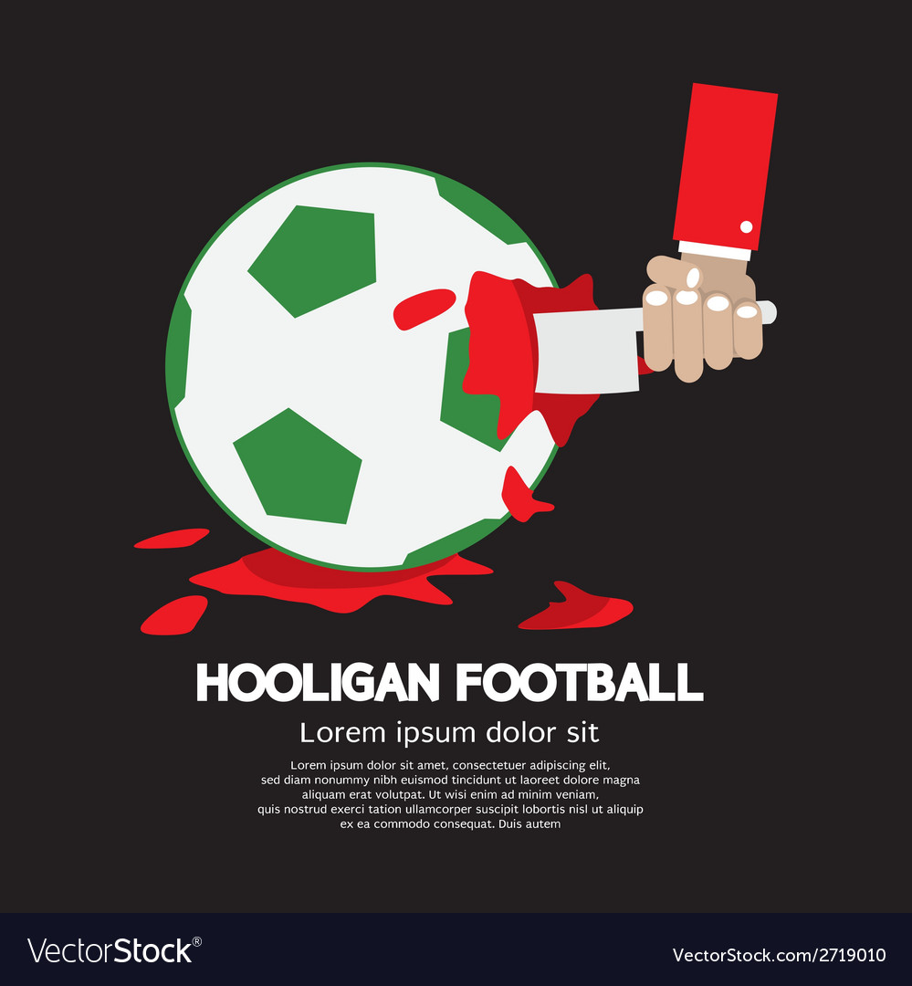 The uncivil soccer or football fan concept vector | Price: 1 Credit (USD $1)