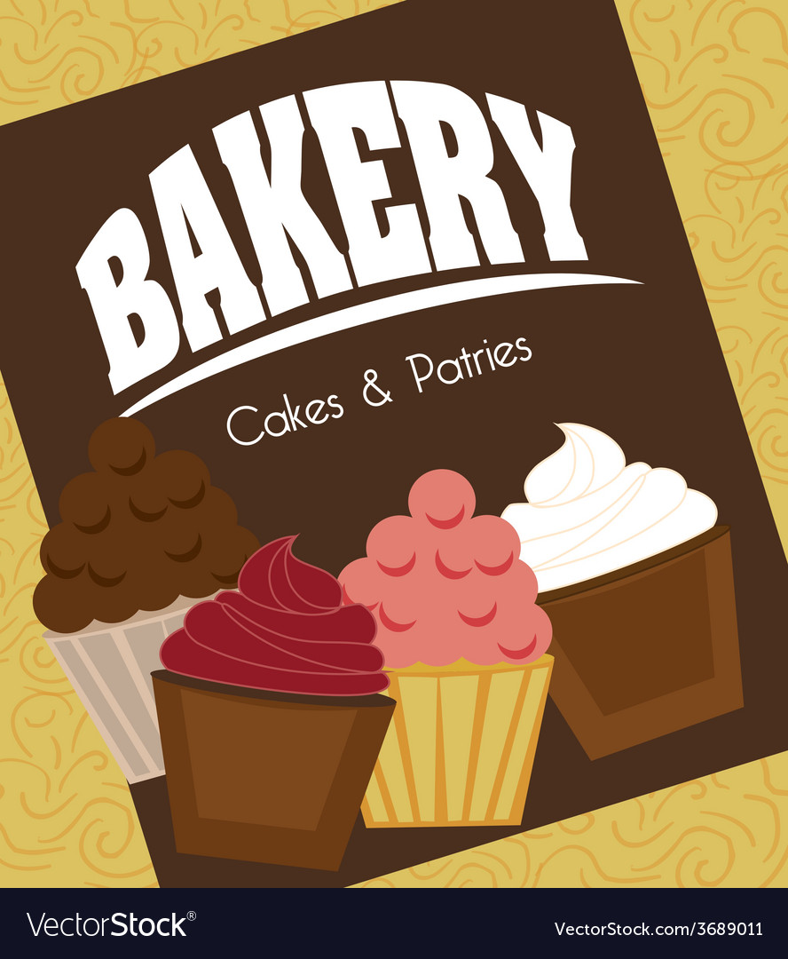 Bakery design over yellow background vector | Price: 1 Credit (USD $1)