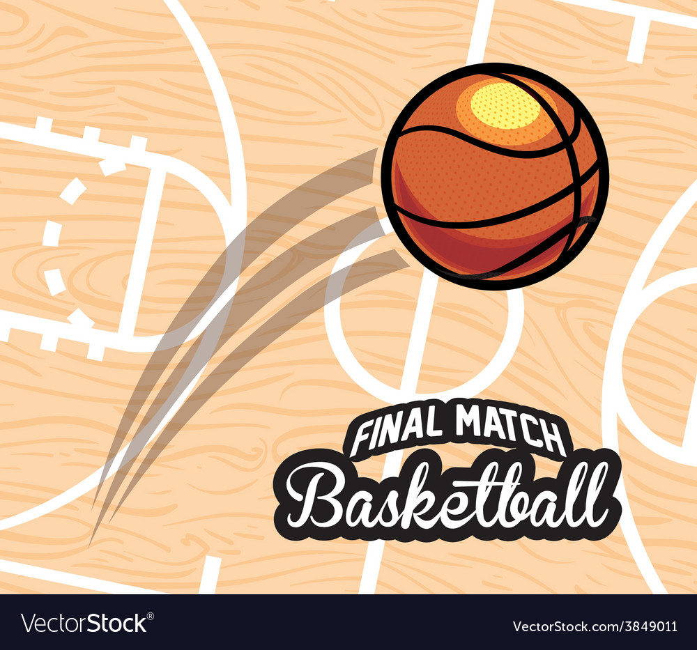 Basketball emblem vector | Price: 1 Credit (USD $1)